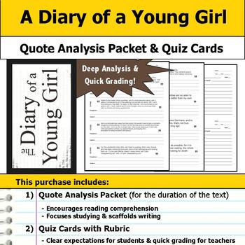 A Diary of a Young Girl - Quote Analysis & Reading Quizzes