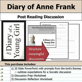 A Diary of a Young Girl - Socratic Method - Post Reading Discussions