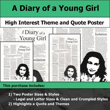 A Diary of a Young Girl - Visual Theme and Quote Poster for Bulletin Boards