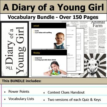 A Diary of a Young Girl - Vocabulary Bundle
