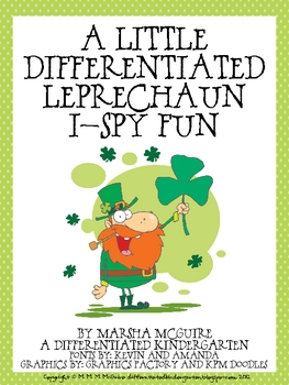 A Differentiated Dolch Word Leprechaun I-Spy - 11 Tiers