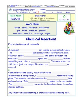 A Differentiated I-Cloze for iPads or Paper - Chemical Rea