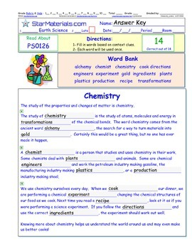 A Differentiated I-Cloze for iPads or Paper - Chemistry PS012