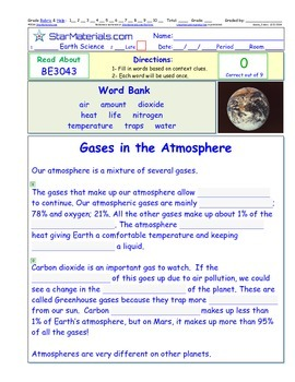 A Differentiated I-Cloze for iPads or Paper - Gases of the