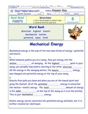 A Differentiated I-Cloze for iPads or Paper - Mechanical Energy PS017