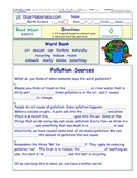 A Differentiated I-Cloze for iPads or Paper - Pollution Sources ES007