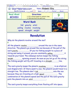 A Differentiated I-Cloze for iPads or Paper - Revolution BE304