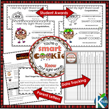 Sight Word Fluency Rings for Differentiated Sight Word Lists