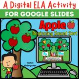 A Digital ELA Activity- Apple Beginning Sounds Sort for Go