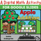 A Digital Math Activity- Apple Addition for Google Slides