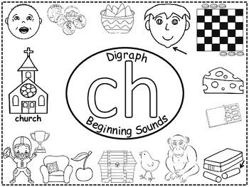 A+ Digraph Ch Beginning Sounds Word Wall