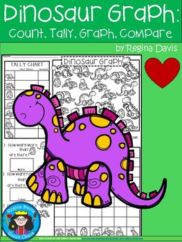 A+ Dinosaur Animals... Count, Tally, Graph, and Compare