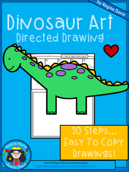 A+ Dinosaur Art: Directed Drawing