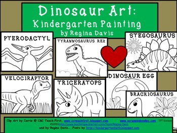 A+ Dinosaur: Kindergarten Painting