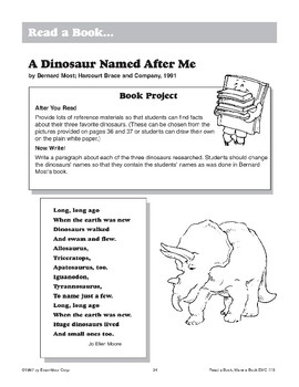 A Dinosaur Named After Me