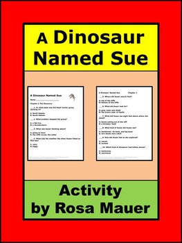A Dinosaur Named Sue Comprehension Questions
