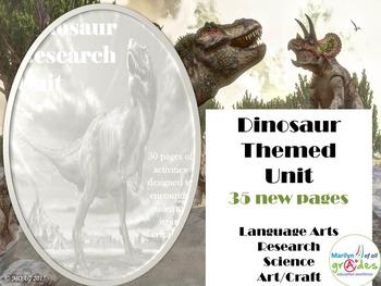 A Dinosaur Themed Unit - Updated - OCTOBER, 2015