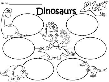 A+  Dinosaurs ... Three Graphic Organizers