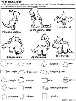 A+ Dinosaurs and Math Shapes