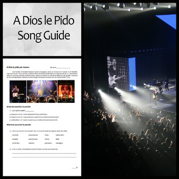 A Dios Le Pido By Juanes Spanish Song Guide And Questions