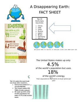 """""""A Disappearing Earth"""" Fact Sheet"""