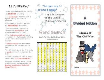 Causes of the Civil War Brochure
