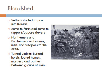A Dividing Nation (Causes of the Civil War) PowerPoint