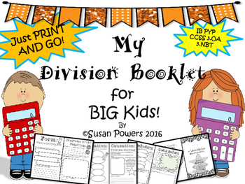A Division Booklet for Big Kids