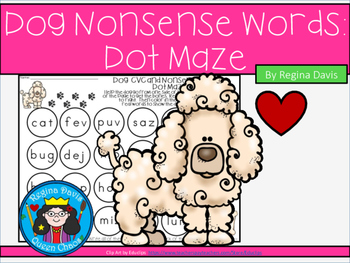A+ Dog CVC and Nonsense Words Dot Maze