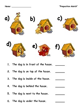a dog and his house english preposition match by ariel leeds. Black Bedroom Furniture Sets. Home Design Ideas