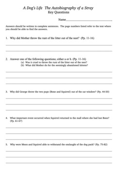 A Dog's Life Reading for Comprehension Bundle