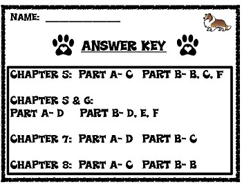 A Dog's Way Home EBSR Comprehension Questions for Chapters 5-8