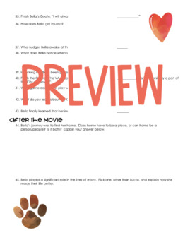 A Dog's Way Home Movie Guide (2019) Novel by W. Bruce Cameron