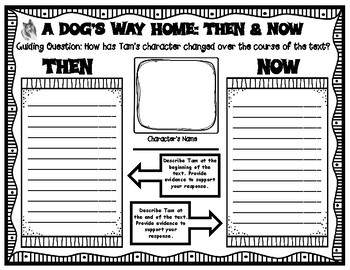 A Dog's Way Home by Bobbie Pyron Then and Now Graphic Organizer