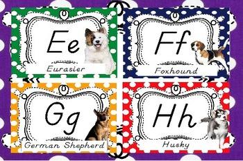 A Dog's D' Nealian Alphabet