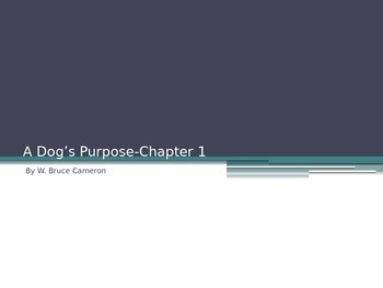 A Dog's Purpose Guided Reading Question PowerPoint