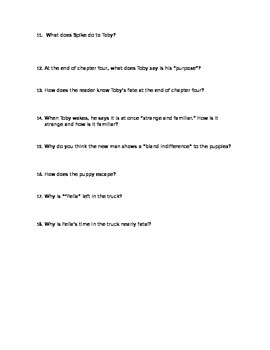 A Dog's Purpose Guided Reading Questions