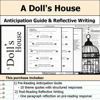 A Doll's House - Anticipation Guide & Reflection Writing