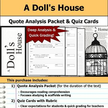 A Doll's House - Quote Analysis & Reading Quizzes