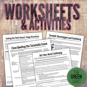A Doll's House Unit Bundle: Worksheets, Activities, Task Cards, Projects