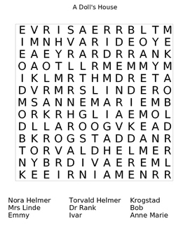 A Doll's House Wordsearch