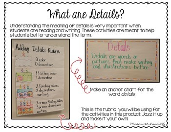 adding details to writing 1st grade