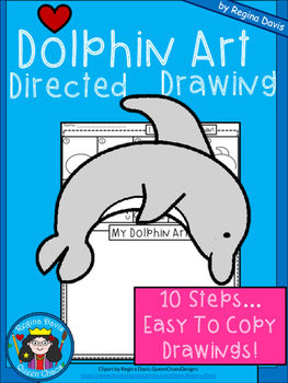 A+ Dolphin Art: Directed Drawing