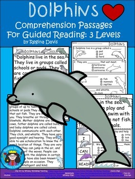 A+ Dolphin.... Comprehension: Differentiated Instruction For Guided Reading