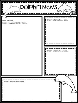 A+ Dolphin: *EDITABLE* Papers For Teacher News and Notes To Parents