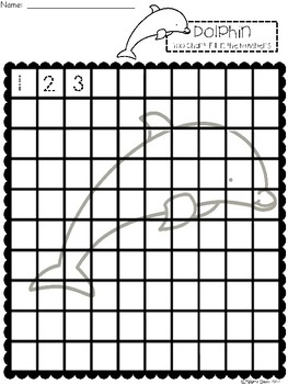 A+ Dolphin: Numbers 100 and 120 Chart