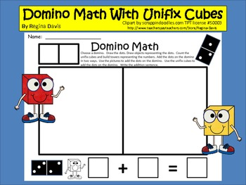 A+ Domino Math With Unifix Cubes
