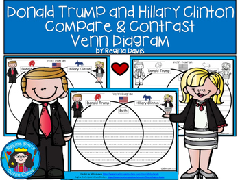 A+ Donald Trump & Hillary Clinton Venn Diagram...Compare a