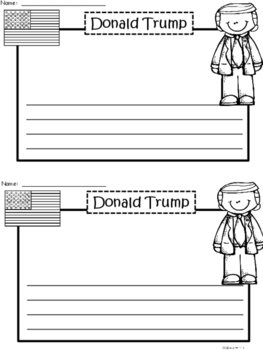 A+ Donald Trump Writing Paper