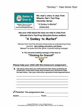 A Donkey to Market Short Story Folk Tale Unit